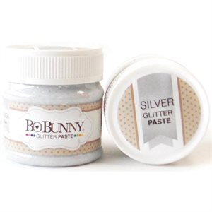BoBunny Double Dot Glitter Paste silver
