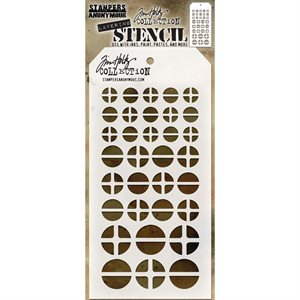 "Tim Holtz Layered Stencil 4.125""X8.5"" Screwed"