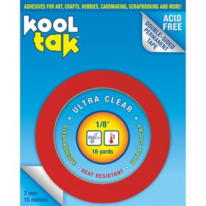 "Kool Tak Ultra Clear Tape .125""X16yd"