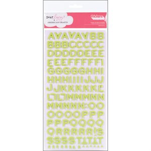 Thickers Foam Stickers 2 / Pkg  Fantastic - Limeade