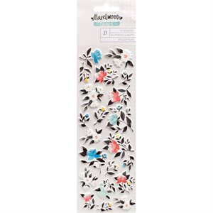 Hazelwood Puffy Stickers Floral