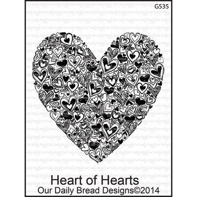 "Our Daily Bread Cling Stamps 3.75""X6"" Heart Of Hearts"