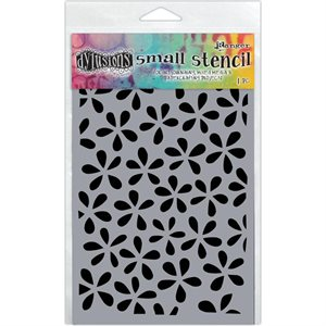 dylusion stencil flower pop