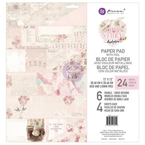 "Prima Marketing Double-Sided Paper Pad 12""X12"" Love story"
