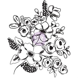prima-Christine Adolf Cling Rubber Stamps  Fresh Flowers #1