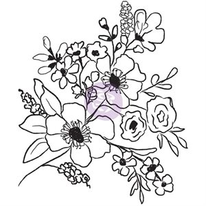 prima-Christine Adolf Cling Rubber Stamps -Fresh Flowers #2