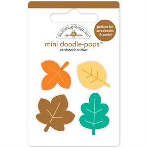 Doodlebug Doodle-Pops 3D Stickers Flea Market Mini Autumn