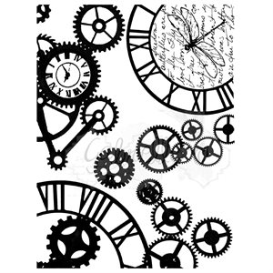 "49 & Market Clear Stamps 3""X4""  steampunk stylin"