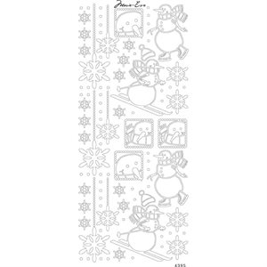 Papicolor Marie Eve Peel Off Stickers 100X255Snowmen Silver