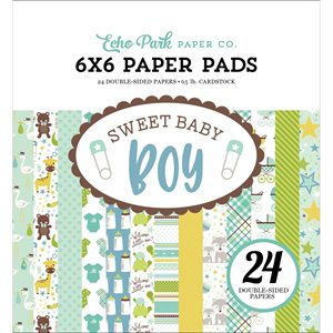 "Echo Park Double-Sided Paper Pad 6""X6"" 24 / Pkg Sweet Baby Boy"