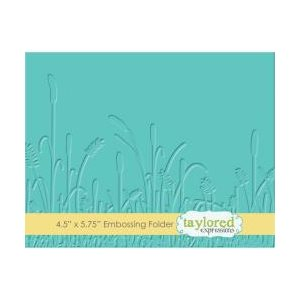 "Taylored Expressions Embossing Folder 4.5""X5.75""Prairie"