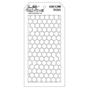 "Tim Holtz Layered Stencil 4.125""X8.5"" Honeycomb"