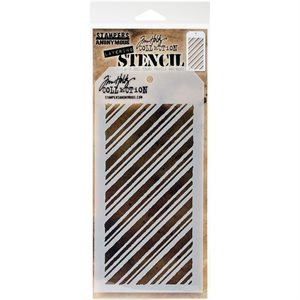 "Tim Holtz Layered Stencil 4.125""X8.5""  Peppermint"