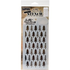 "Tim Holtz Layered Stencil 4.125""X8.5""  Pines"