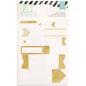 Heidi Swapp Stickers  Labels / Gold