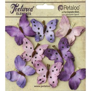 "Darjeeling Teastained Butterflies 1.5"" 8 / Pkg Purple"