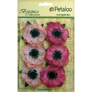 "Botanica Anemone Flowers 2"" 6 / Pkg  Light Pink"