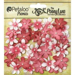 "Penny Lane Mini Pearl Daisies .75"" 40 / Pkg red"
