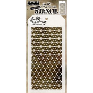 "Tim Holtz Layered Stencil 4.125""X8.5"" Diamonds"
