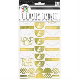 Create 365 Planner Stickers 5 Sheets / Pkg-Gold - Seize The