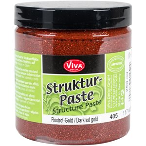 Viva Decor Structure Paste 8.45oz Dark Red Gold