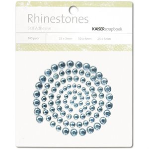 Self-Adhesive Rhinestones 100 / Pkg Ice Blue