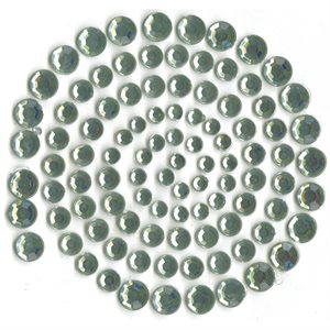 Self-Adhesive Rhinestones 100 / Pkg Blue Gray (Light Green)